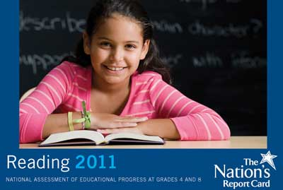 NAEP Reading 2011 cover of girl at desk with a book