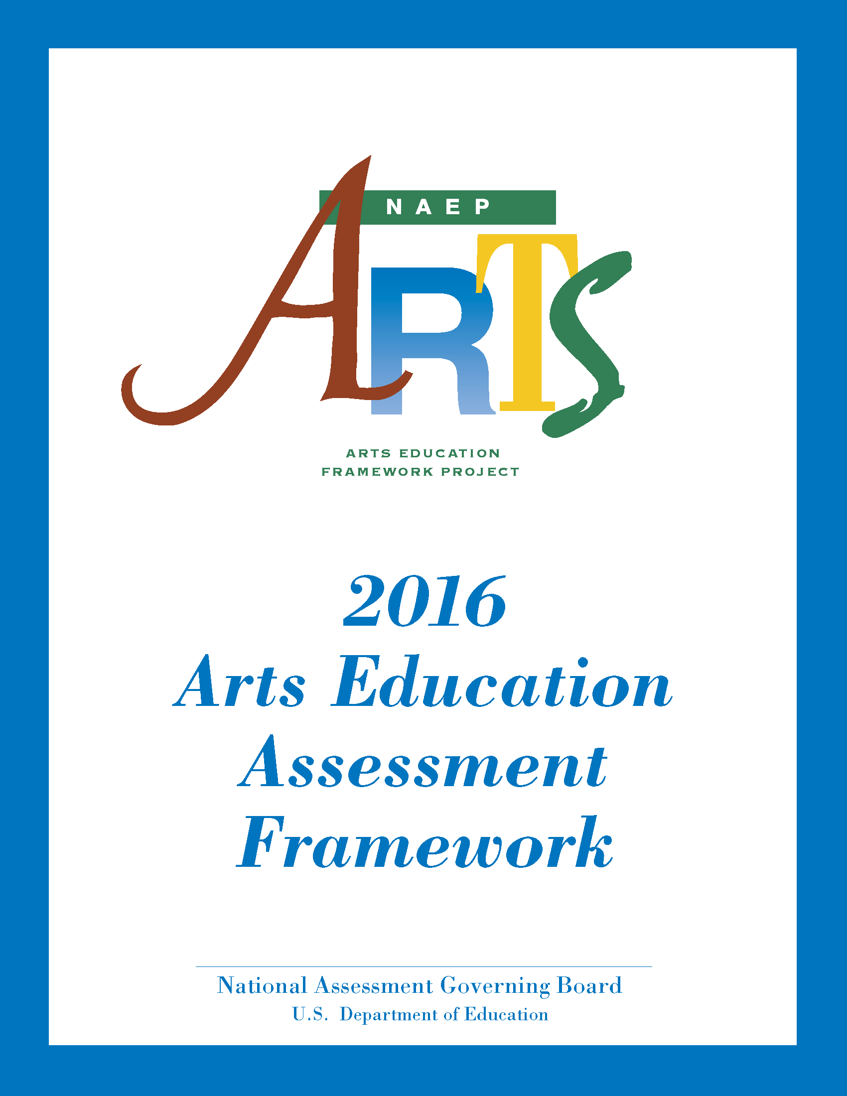Cover for 2016 Arts Education Assessment Framework