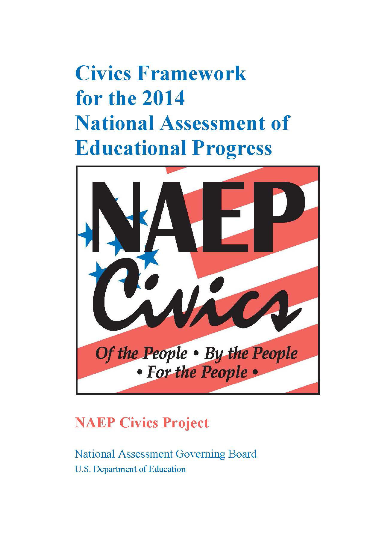 Cover of Civics Framework for the 2014 National Assessment of Educational Progress