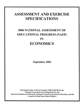 Cover of Economics Specifications for the 2006 National Assessment of Educational Progress