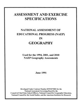 Cover of NAEP in Geography