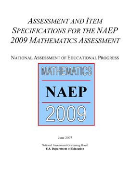 Cover of Mathematics Assessment and Item Specifications