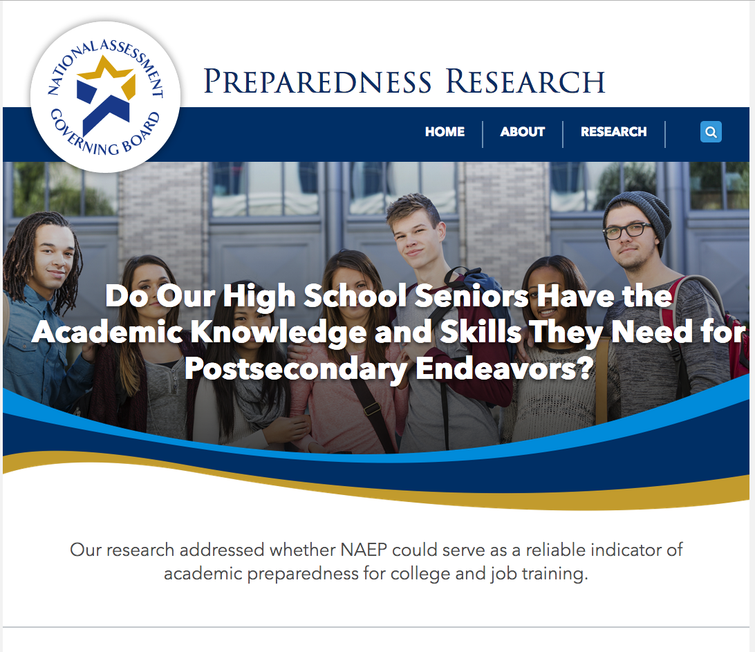 TECHNICAL REPORT NAEP 12th Grade Preparedness Research