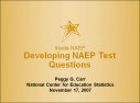 Cover for Developing NAEP Test Questions