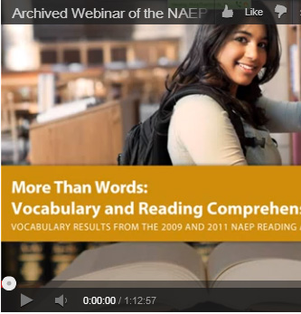 Archived Webinar of the NAEP Vocabulary Release Event